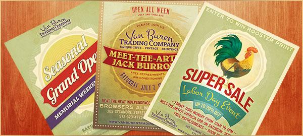 Van Buren Trading Company Event Campaigns